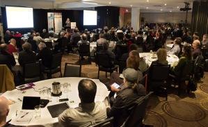 Un public attentif de plus de 160 personnes sont venus entendre les conférenciers au Symposium vigne et vin 2015.